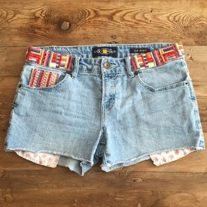 Lucky Brand Riley Jean embroider shorts
